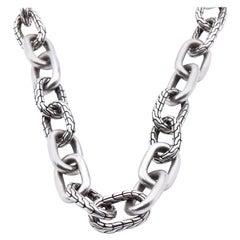 John Hardy Sterling Silver Oval Link Necklace