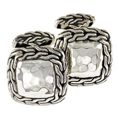 John Hardy Sterling Silver Palu Collection Cufflinks, 1990s
