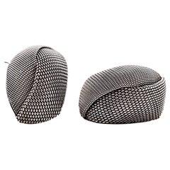 John Hardy Sterling Silver Unique Modernist Mesh Earrings