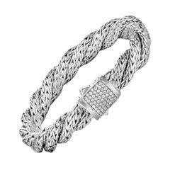 John Hardy Twisted Chain Bracelet with Diamonds BBP998182DIXM