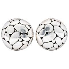 John Hardy Vintage Sterling Silver Dot Earrings