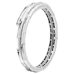 John Hardy Women's Bamboo Silver Small Double Coil Bracelet, Size M, BB5900XS