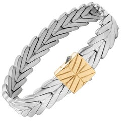 John Hardy Women's Chain Gold and Silver Medium Bracelet, Size M- BZ93270XM