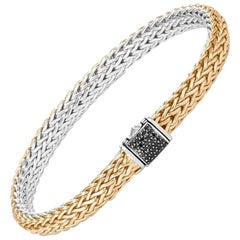 John Hardy Women's Chain Gold and Silver Reversible Bracelet, BZS90444RVBN