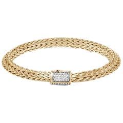 John Hardy Women's Classic Chain 18K Gold Diamond Pave '0.35ct', BGX905032DIXM