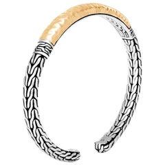 John Hardy Women's Classic Chain Hammered 18K Gold & Silver Slim Flex Cuff