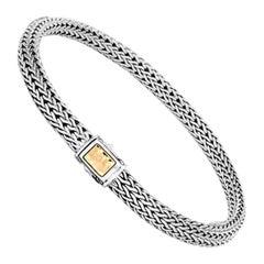 John Hardy Women's Classic Chain Hammered Bracelet BZ96184XM