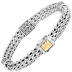 John Hardy Women's Classic Chain Hammered Gold & Silver Medium Four-Station Brac