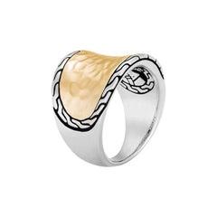 John Hardy Women's Classic Chain Hammered Saddle Ring RZ96178X7