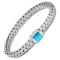John Hardy Women's Classic Chain Silver Medium Chain Bracelet with Pusher Clasp