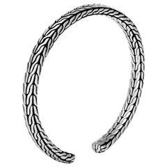 John Hardy Women's Classic Chain Silver Slim Flex Cuff, CB94555XM