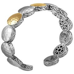 John Hardy Women's Dot Hammered Gold and Silver Cuff, CZ71501XM