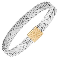 John Hardy Women's Modern Chain Gold and Silver Bracelet, BZ93269XM
