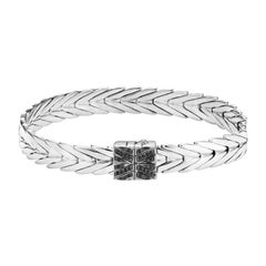 John Hardy Women's Silver Bracelet with Black Spinel, BBS932694BNXM