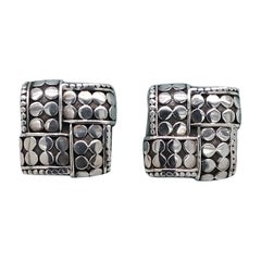 John Hardy Woven Dot Sterling Silver Stud Earrings