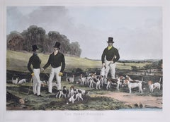 The Merry Beaglers restrike aquatint by John Harris after Harry Hall