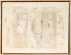 White Painting, Abstract Expressionist Oil Painting by John Hartell 1954
