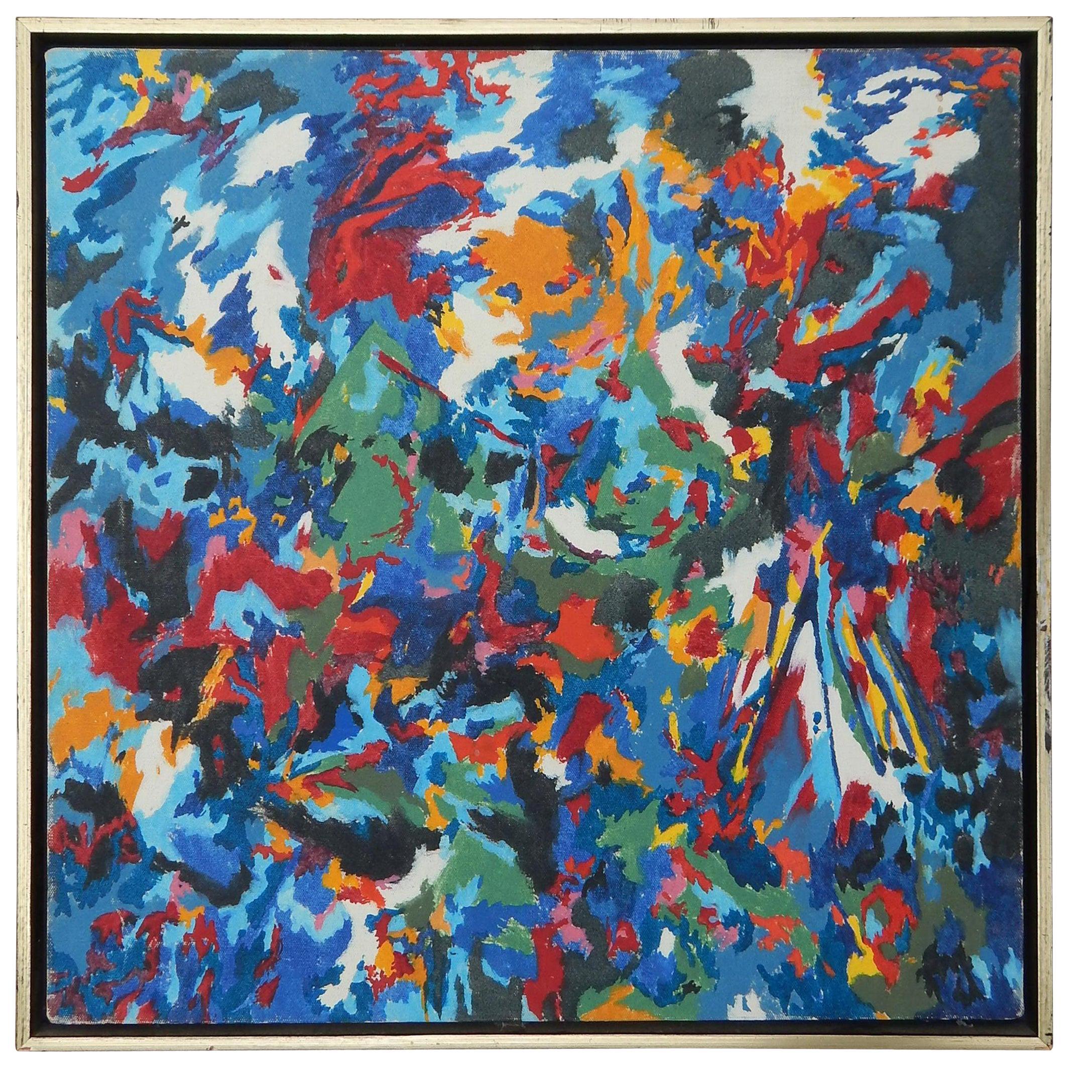 John Harvey McCracken Minimalist Abstract Oil on Canvas, 1973