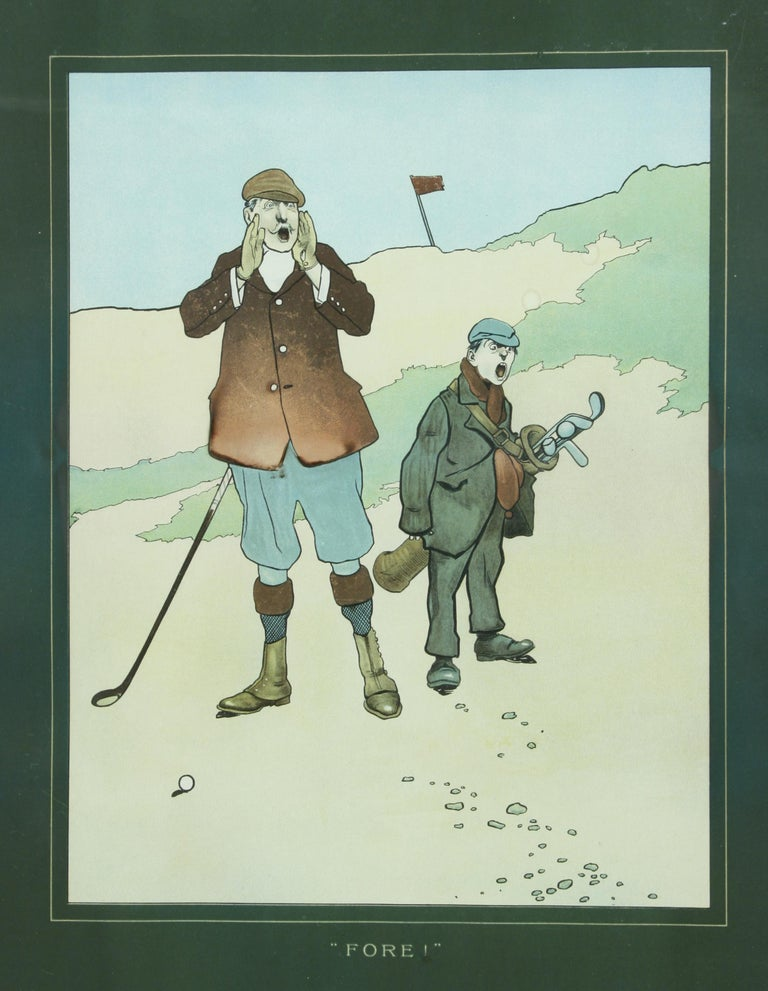 John Hassall Golf Prints In Excellent Condition For Sale In Oxfordshire, GB