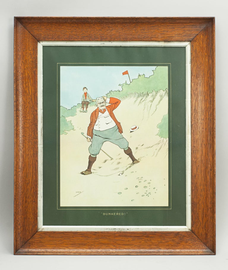 Early 20th Century John Hassall Golf Prints For Sale