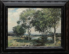 A Panoramic Scottish Landscape - Scottish Edwardian Impressionist oil painting