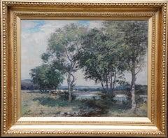 A Panoramic Scottish Landscape - Scottish Edwardian Impressionist oil painting