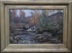 Autumn in the Glen - Scottish Impressionist art river landscape oil painting