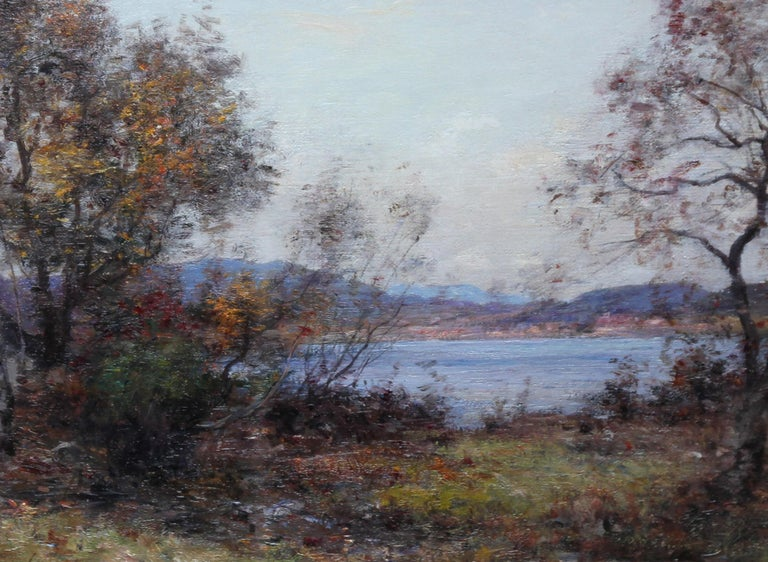 Panoramic Scottish Loch Landscape- Edwardian Impressionist oil painting Scotland For Sale 2