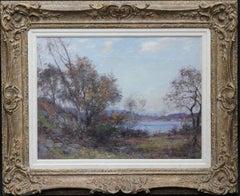 Panoramic Scottish Loch Landscape- Edwardian Impressionist oil painting Scotland