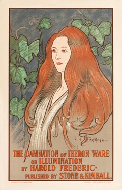 """The Damnation of Theron Ware"" Original Vintage Art Nouveau Poster"