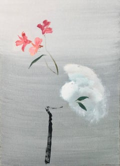 John Hitchens, Darker Shade of White, oil painting. Still life, Flower
