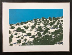 New Mexico Landscape by John Hogan, serigraph screen print limited edition