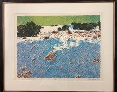 Prairie Winter, Cerrillos Flats by John Hogan serigraph New Mexico Landscape