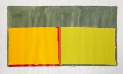 Yellows, Abstract Colorfield Silkscreen by John Hoyland 1969