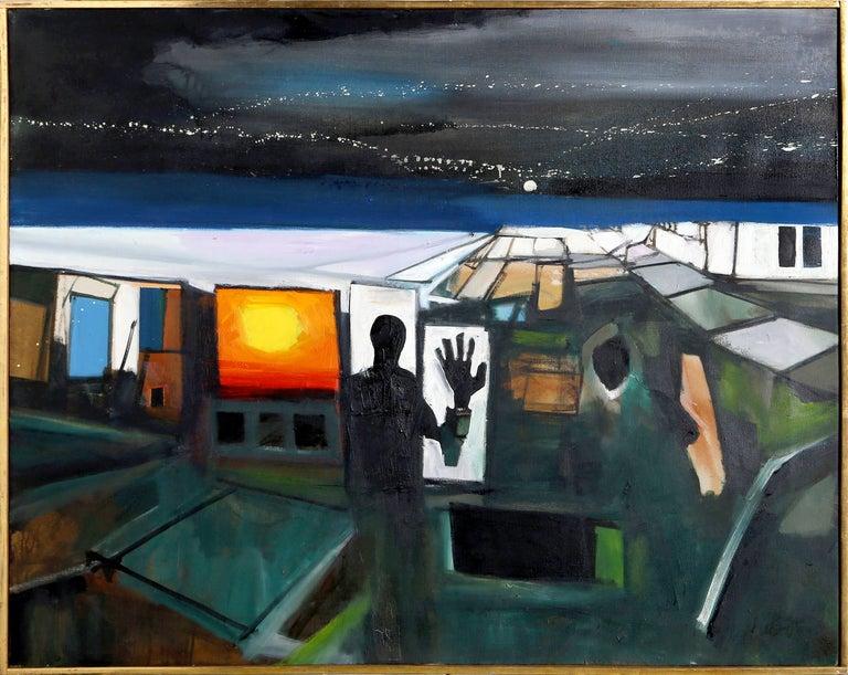 John Hultberg Figurative Painting - At The Border