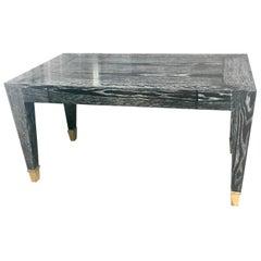 John Hutton Designed Parisian Desk in Cerused Ebonized Finish