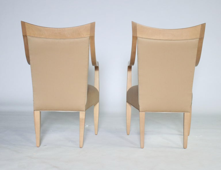 Fabric John Hutton for Donghia Set of 8 Dining Chairs For Sale