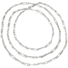 John Iversen One of a Kind Double Dot Links Sterling Silver Chain Necklace