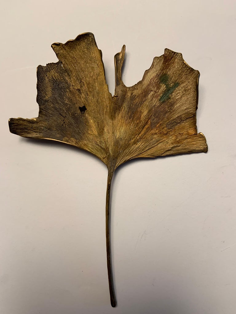 John Iversen is a well known contemporary American jeweler, based in East Hampton, NY.  He regularly exhibits at the top Crafts Shows in the United States and Europe and has exhibited at Design Basel. This Gingko leaf pin is one from his series of