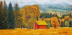 The Red Cabin, Original Painting