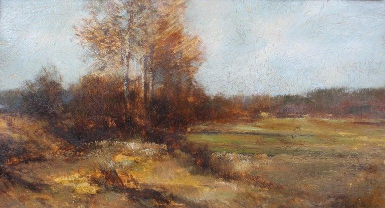 Antique American J.J. Enneking Impressionist Landscape Gorgeous Antique Frame   - Painting by John Joseph Enneking