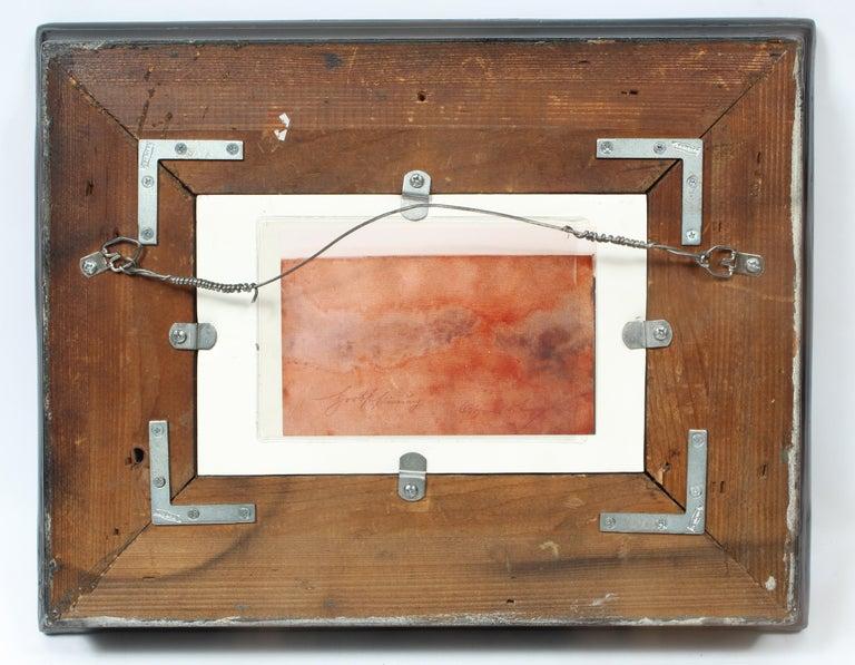 Antique American J.J. Enneking Impressionist Landscape Gorgeous Antique Frame   For Sale 1