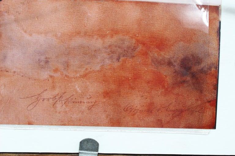 Antique American J.J. Enneking Impressionist Landscape Gorgeous Antique Frame   For Sale 2