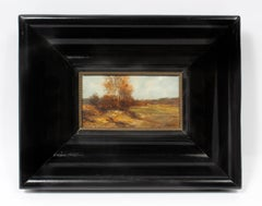 Antique American J.J. Enneking Impressionist Landscape Gorgeous Antique Frame
