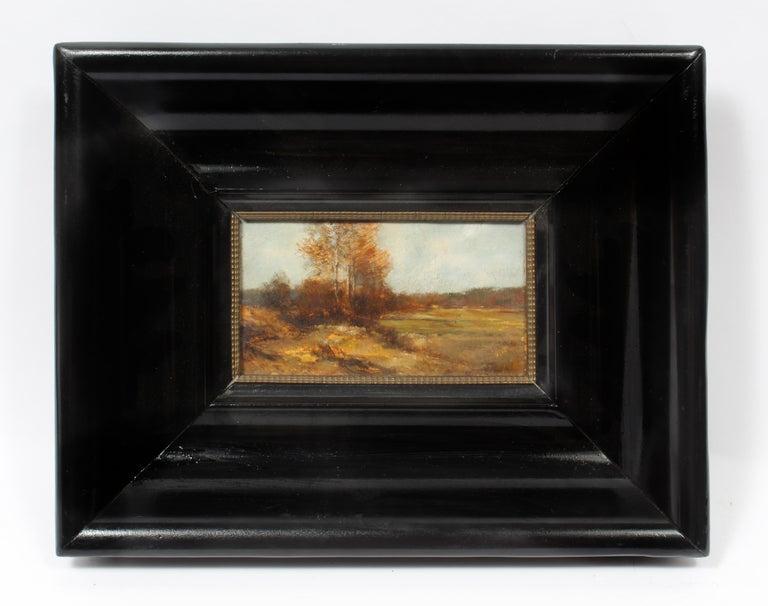 John Joseph Enneking Landscape Painting - Antique American J.J. Enneking Impressionist Landscape Gorgeous Antique Frame