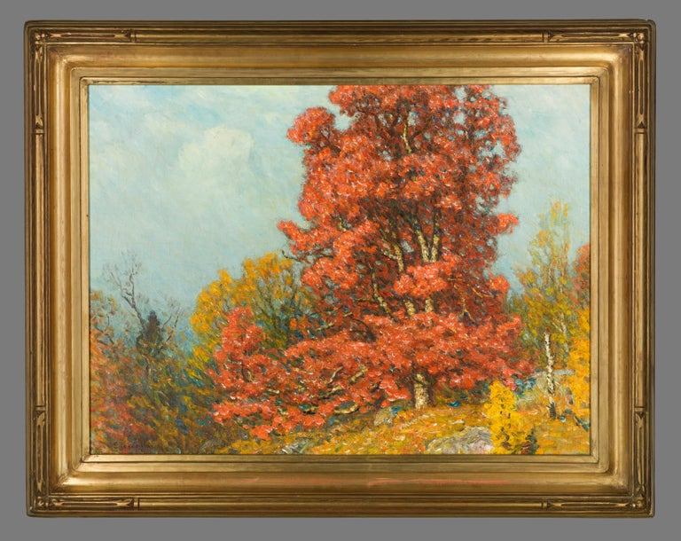 JOHN JOSEPH ENNEKING (1841-1916) Autumn Landscape, n.d. Oil on canvas 18 x 24 inches Signed at lower left:  Enneking  John Joseph Enneking was one of New England's prominent landscape artists of the late nineteenth century. He painted in a