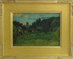 John Joseph Enneking Autumn Landscape Painting For Sale