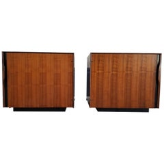 John Kapel Side Tables or Cabinets, a Pair