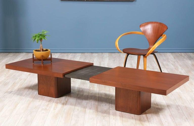 John Keal Expanding Coffee Table for Brown Saltman For Sale 6