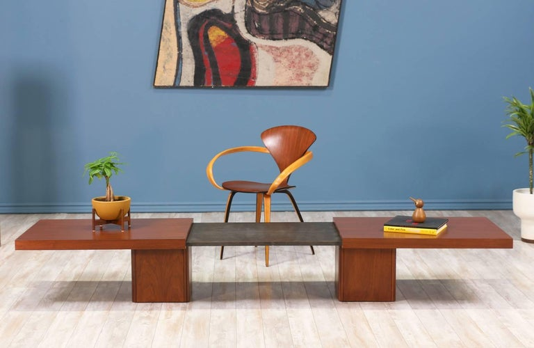 American John Keal Expanding Coffee Table for Brown Saltman For Sale